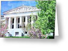 Historical Museum In Spring Greeting Card