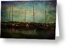Historical Harbor Woudrichem The Netherlands Greeting Card