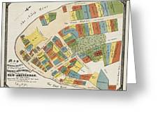 Historical Map Of Manhattan Greeting Card