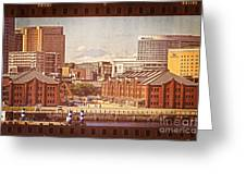 Historical Red Brick Warehouses Greeting Card