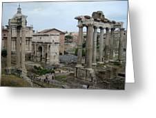 Historical Ruins Greeting Card by Fraida Gutovich
