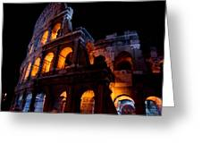 Historical Shapes In The Night Greeting Card