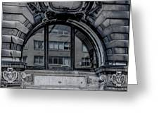 Historical Window Detail Greeting Card
