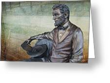 History - Abraham Lincoln Contemplates -  Luther Fine Art Greeting Card