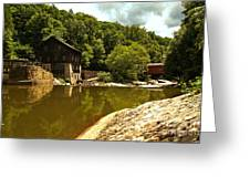History Along Slippery Rock Creek Greeting Card