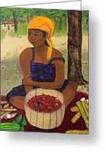 History Behind Caribbean Food Produces Greeting Card
