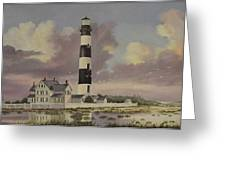 History Of Morris Lighthouse Greeting Card