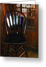 Hitchcock Chair In The Corner Greeting Card