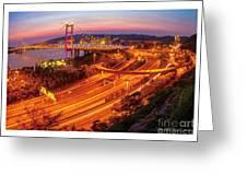Hk Bridge Greeting Card