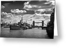 Hms Belfast London Greeting Card
