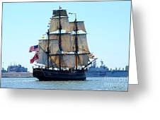 Hms Bounty 2012 Opsail Greeting Card