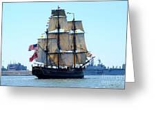 Hms Bounty Ahoy Greeting Card