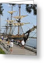 Hms Bounty Newburyport Greeting Card