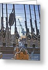 Hms Victory Cannon Greeting Card
