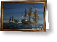 Hms Victory Dawn Greeting Card