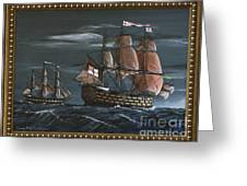Hms Victory Early Wind Greeting Card
