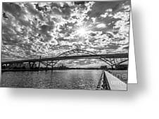 Hoan Bridge Peak Thru Greeting Card