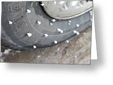 Hoarfrost On Tire Greeting Card