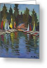 Hobie Cats At Lake Arrowhead Greeting Card