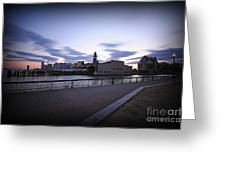 Hoboken Overlooking The Ferry Greeting Card