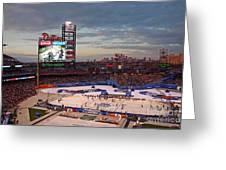 Hockey At The Ballpark Greeting Card