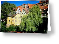Hoelderlin Tower In Lovely Tuebingen Germany Greeting Card