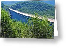 Hoffstadt Creek Bridge To Mount St. Helens Greeting Card