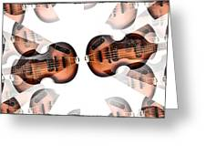 Hofner Bass Abstract Greeting Card
