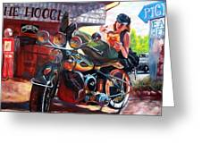 Painted Rock H.o.g. Chapter #1010 Greeting Card