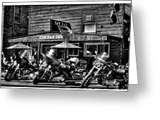 Hogs At The Tow Bar Inn - Old Forge New York Greeting Card