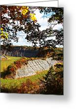 Hogs Back Overlook Greeting Card