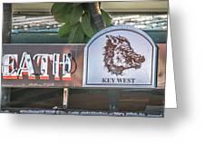 Hog's Breath Saloon 1 Key West - Hdr Style Greeting Card