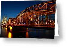 Hohenzollern Bridge Greeting Card