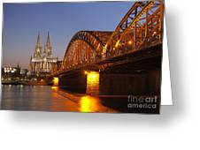 Hohenzollernbrucke In Cologne Greeting Card