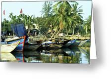 Hoi An Fishing Boats 01 Greeting Card