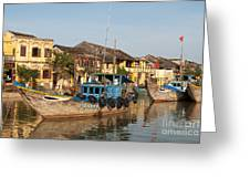 Hoi An Fishing Boats 03 Greeting Card