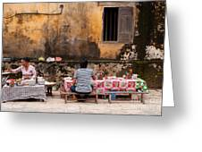 Hoi An Noodle Stall 03 Greeting Card