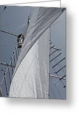 Hoisting The Mainsails Greeting Card