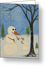 Hold Me I'm Cold Greeting Card
