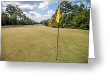 Hole Flag At A Golf Course Greeting Card