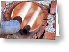 Hole In The Wall Greeting Card by Fran Riley