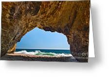Hole In The Wall - Natural Tunnel In Santa Cruz Greeting Card