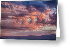 Holes In The Sunrise Clouds Greeting Card