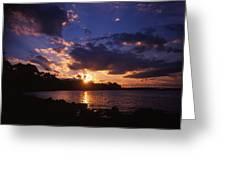 Holga Sunset Greeting Card
