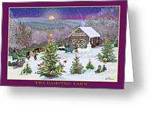 Holiday At Campton Farm New Hampshire Greeting Card
