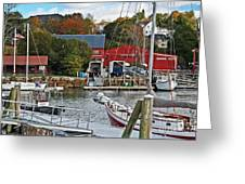 Holiday At Rockport Greeting Card