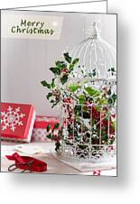 Holiday Birdcage Greeting Card