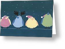 Holiday Birds Greeting Card