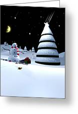 Holiday Falling Star Greeting Card by Cynthia Decker