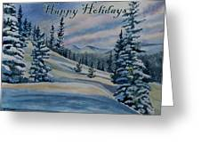 Happy Holidays - Winter Landscape Greeting Card